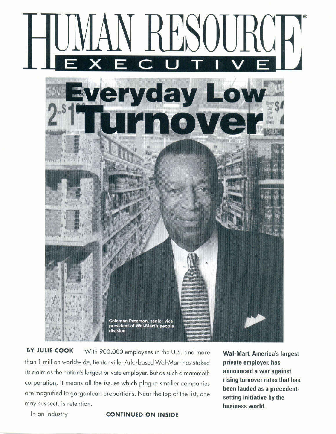 Everyday Low Turnover